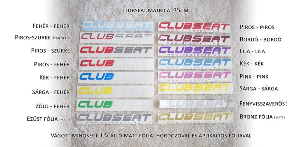ClubSEAT matrica