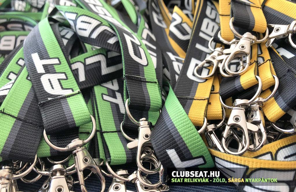 Bordás nyakpánt zöld, sárga