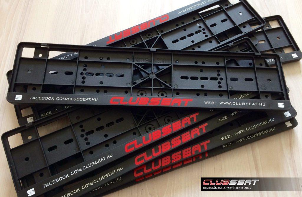 ClubSEAT - rendszámtábla tartó keret