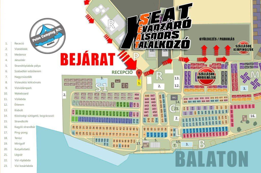 ClubSEAT évadzáró térképe